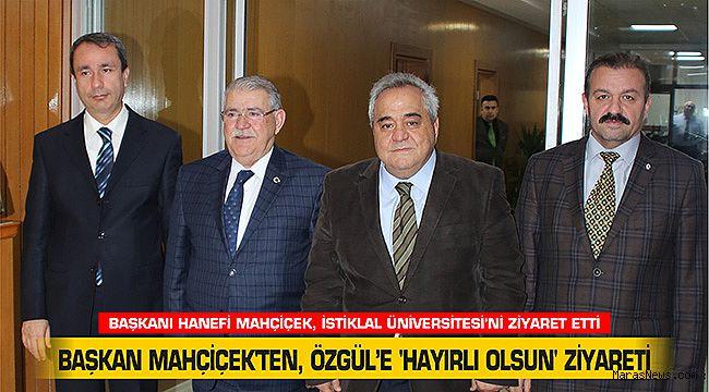Başkan Mahçiçek'ten, Özgül'e 'Hayırlı Olsun' Ziyareti