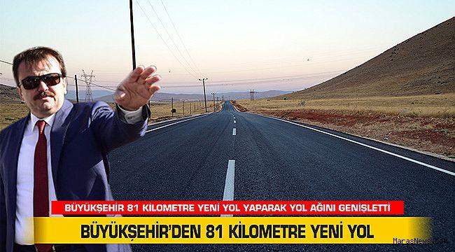 Büyükşehir'den 81 kilometre yeni yol