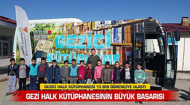 Gezici Halk Kütüphanesi 13 Bin Öğrenciye Ulaştı