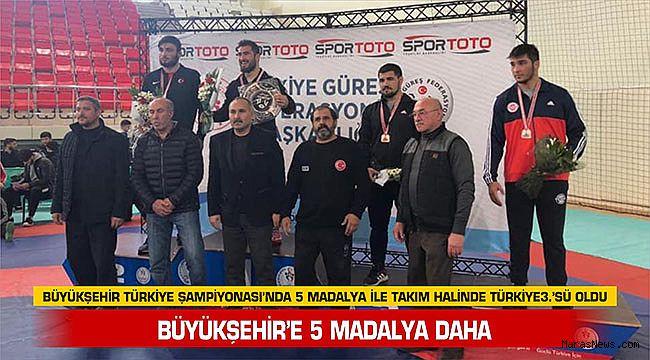 Büyükşehir'e 5 madalya daha