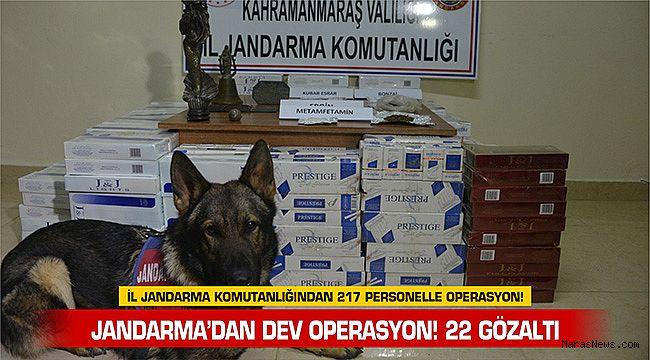 Jandarma'dan dev operasyon! 22 gözaltı