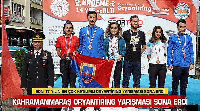 Kahramanmaraş Oryantiring yarışması sona erdi