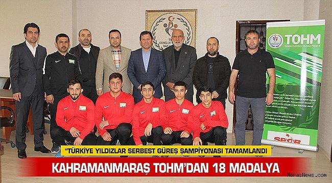 Kahramanmaraş TOHM'dan 18 Madalya