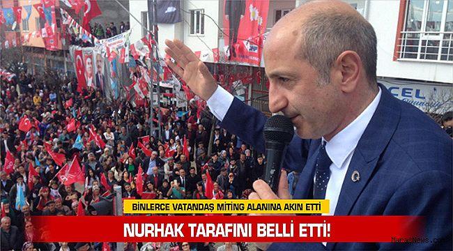 Nurhak tarafını belli etti! Binlerce vatandaş miting alanına akın etti
