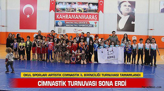 Okul Sporları Artistik Cimnastik İl Birinciliği Turnuvası Tamamlandı