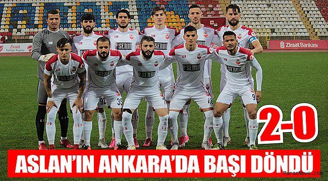 Aslan'ın Ankara'da başı döndü 2-0