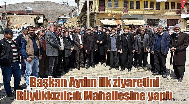 Başkan Aydın ilk ziyaretini Büyükkızılcık Mahallesine yaptı
