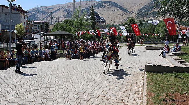 Alo Spor'u Çağlayancerit'te atlı birlikler karşıladı