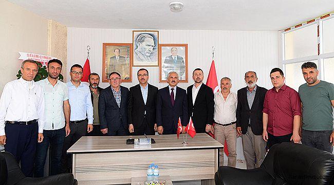 Başkan Gündör'den MHP Andırın Teşkilatına ziyaret