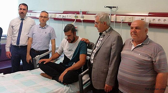 Rektör Can, Afrin Gazisi Yılmaz'ı ziyaret etti