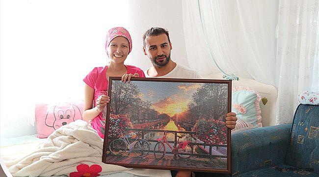 Emre Kaya'dan kanser tedavisi gören genç kıza ziyaret