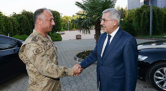İl Jandarma Komutanı Öksüz'den Rektör Can'a ziyaret