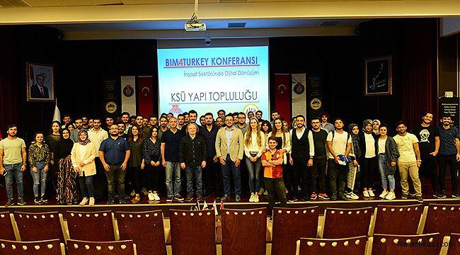 """KSÜ'de """"İnşaat Sektöründe Dijital Dönüşümü"""" Konferansı"""