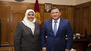 Milletvekili Öçal Kırgızistan Meclis Başkanı Cumabekov'a ziyaret