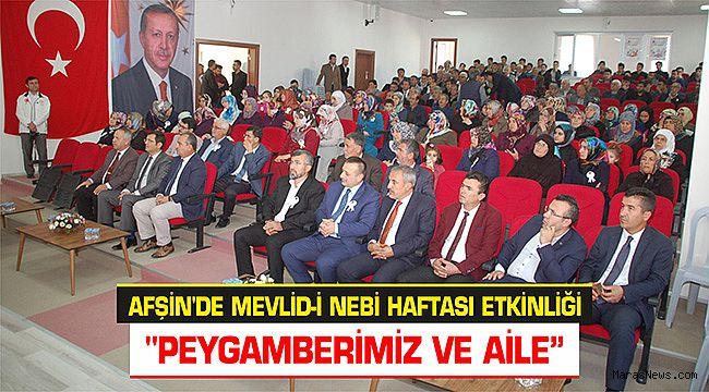 Afşin'de Mevlid-i Nebi Haftası etkinliği