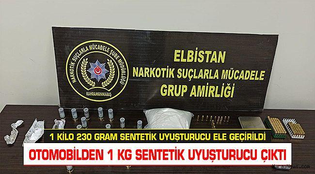 Kahramanmaraş'ta 1 Kilo 230 gram sentetik uyuşturucu ele geçirildi