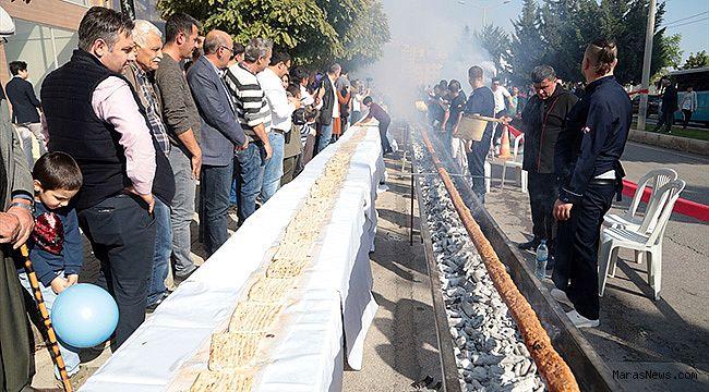 Kahramanmaraş'ta 46 metrelik kebap saniyeler içinde tükendi