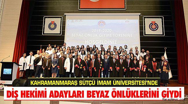 KSÜ'de Diş Hekimi adayları beyaz önlüklerini giydi