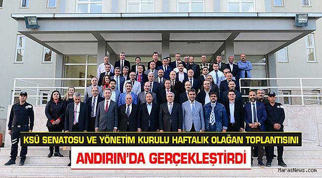 KSÜ Senatosu aylık toplantısını Andırın'da yaptı