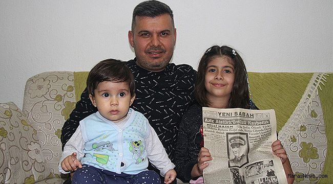 Sevinci ailesi, Atatürk'ün vefat haberi bulunan gazeteyi özenle saklıyor