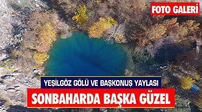 Yeşilgöz Gölü ve Başkonuş Yaylası sonbaharda başka güzel