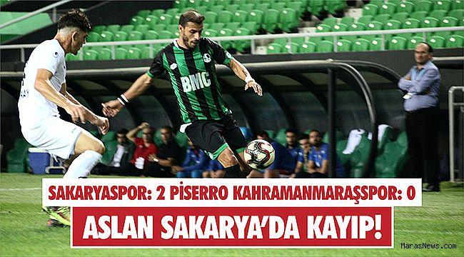 Aslan Sakarya'da mağlup 2-0