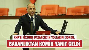 CHP'li Öztunç Pazarcık'ın yollarını sordu, bakanlıktan komik yanıt geldi