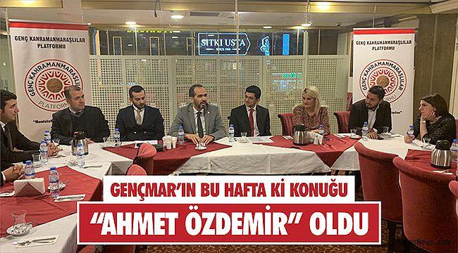 """GENÇMAR'ın salı toplantılarının bu hafta ki konuğu """"Ahmet Özdemir"""" oldu"""