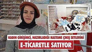 Kadın girişimci, hazırladığı hastane çıkış setlerini e-ticaretle satıyor