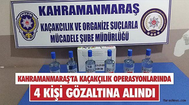 Kahramanmaraş'ta kaçakçılık operasyonlarında 4 kişi gözaltına alındı