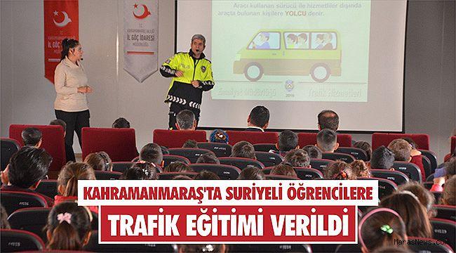 Kahramanmaraş'ta Suriyeli öğrencilere trafik eğitimi verildi