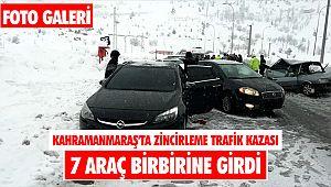 Kahramanmaraş'ta zincirleme trafik kazası: 3 yaralı