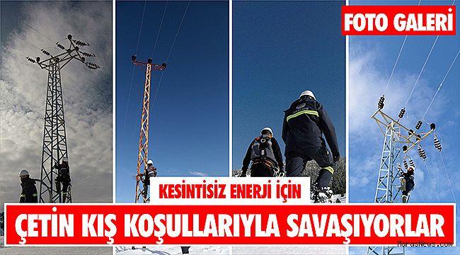 Kesintisiz enerji için çetin kış koşullarıyla savaşıyorlar