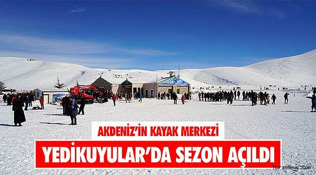 Akdeniz'in Kayak Merkezi Yedikuyular'da sezon açıldı