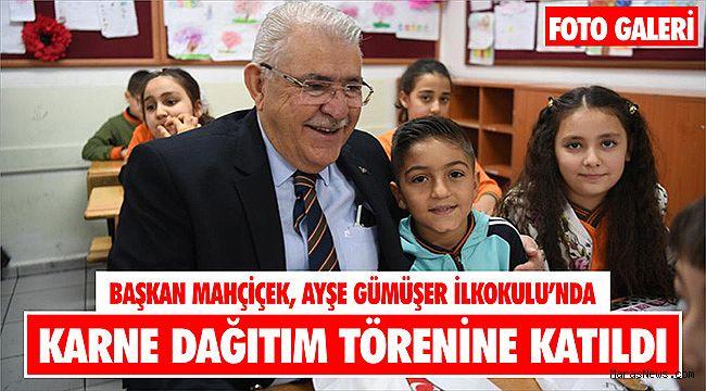Başkan Mahçiçek, Ayşe Gümüşer İlkokulu'nda Karne Dağıtım Törenine Katıldı