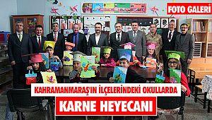 Kahramanmaraş'ın ilçelerindeki okullarda karne heyecanı