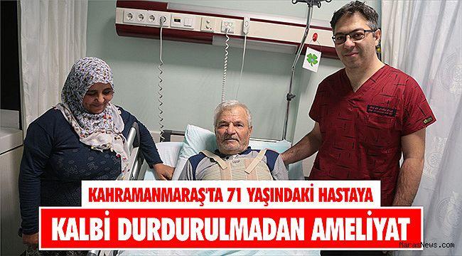 Kahramanmaraş'ta 71 yaşındaki hastaya kalbi durdurulmadan ameliyat