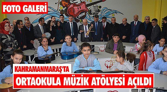 Kahramanmaraş'ta ortaokula müzik atölyesi açıldı