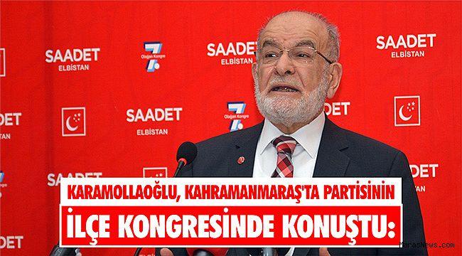 Karamollaoğlu, Kahramanmaraş'ta partisinin ilçe kongresinde konuştu:
