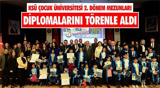 KSÜ Çocuk Üniversitesi 2. Dönem mezunları diplomalarını törenle aldı