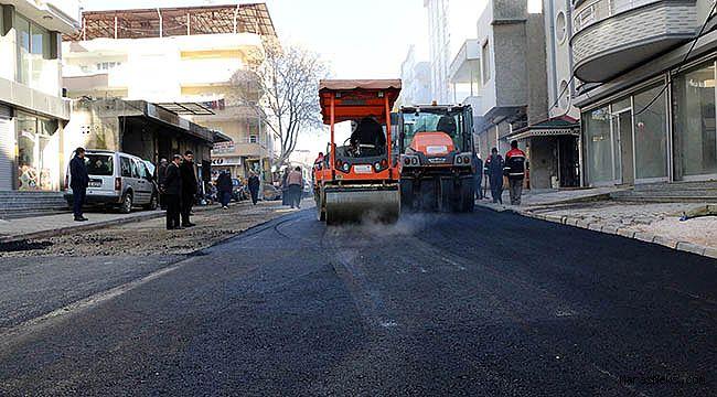 Pazarcık 1. caddeye sıcak asfalt