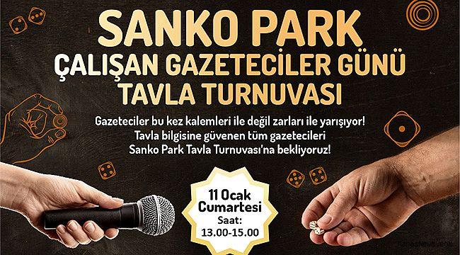 Sanko Park'tan gazetecilere ödüllü tavla turnuvası