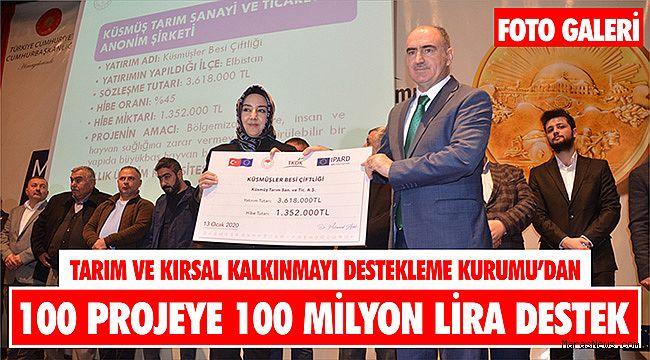 TKDK'dan 100 projeye 100 milyon lira destek