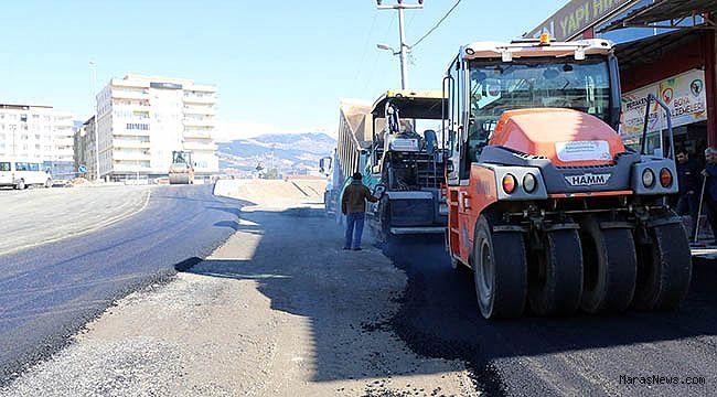 Toptancılar sitesi yoluna asfalt