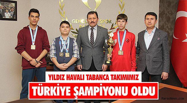 Yıldız Havalı Tabanca Takımımız Türkiye şampiyonu oldu