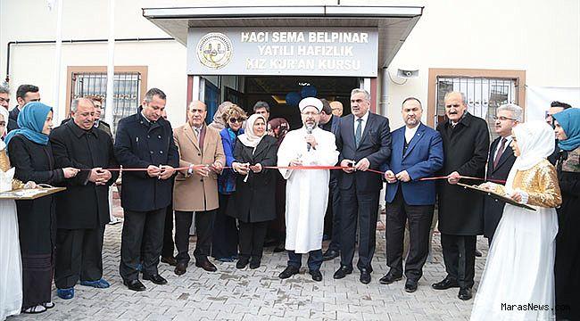 Diyanet İşleri Başkanı Erbaş, Kahramanmaraş'ta Kuran kursu açtı