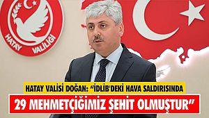 Hatay Valisi Doğan: