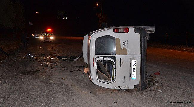 Kahramanmaraş'ta hafif ticari araç takla attı: 2 yaralı