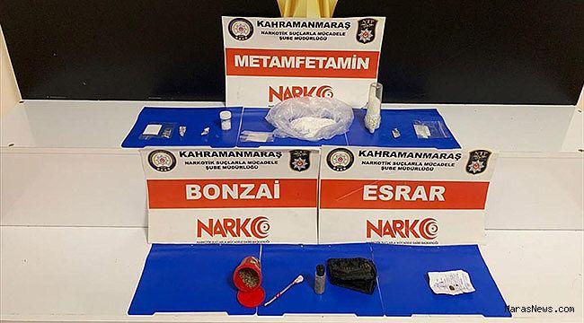 Kahramanmaraş'ta uyuşturucu satıcısı 5 şüpheli tutuklandı