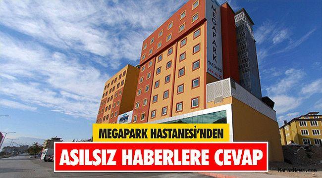 Megapark Hastanesi'nden asılsız haberlere cevap